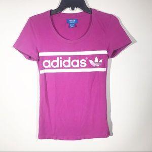 Adidas | Pink Trefoil Logo Tee
